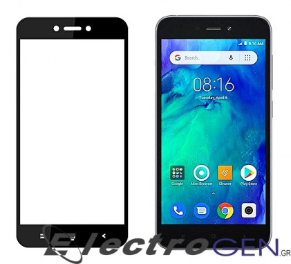 POWERTECH Tempered Glass 5D Full Glue για Xiaomi Redmi Go, Black
